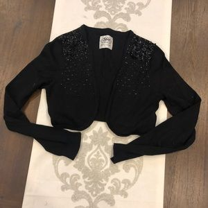 Justice 16/18 black sparkly sweater for dress
